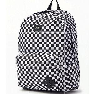Van's NWT Backpack Checkerboard Black White